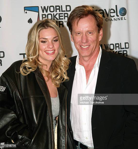 Ashley Madison and James Woods during World Poker Tour Invitational Inside and Arrivals at The Commerce Casino in Los Angeles California United States
