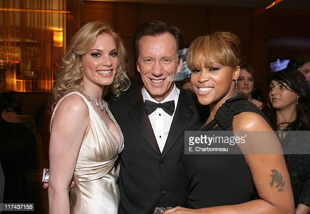 Ashley Madison, James Woods and Eve during 2007 Vanity Fair Oscar Party Hosted by Graydon Carter - Inside at Mortons in West Hollywood, California,...