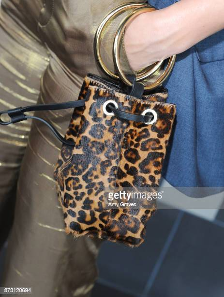 Ashley Martelle bag detail attends the As In Kevin Premiere at Film Fest LA at LA Live on November 11 2017 in Los Angeles California