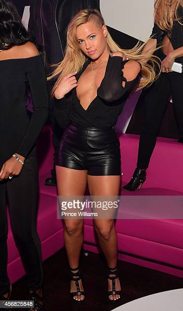 Ashley Martelle of the group Taz's Angels attends the Gold Room on October 6 2014 in Atlanta Georgia