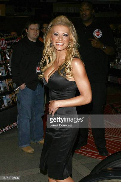 Ashley Massaro during Ashley Massaro Signs the April 2007 Issue of Playboy at Virgin Megastore in Times Square March 8 2007 at Virgin Megastore Times...