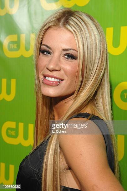 Ashley Massaro during The CW Winter 2007 TCA Press Tour Party Green Carpet and Inside at Ritz Carlton in Pasadena California United States