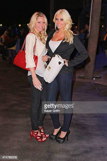 Ashley Mattingly and Kristina Shannon are seen on October 31, 2012 in Los Angeles, California.