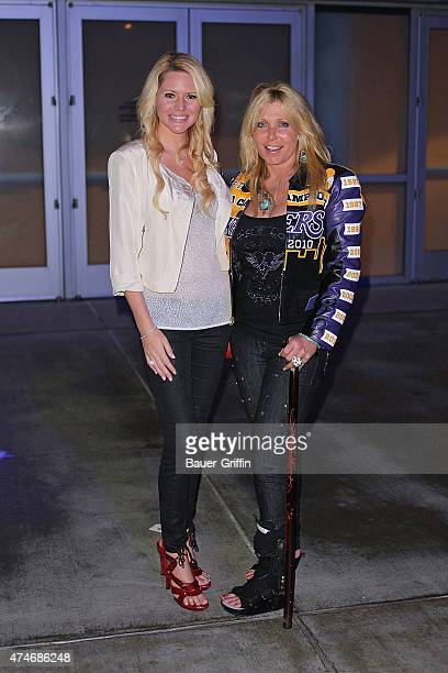 Ashley Mattingly and Pamela Bach are seen on October 31, 2012 in Los Angeles, California.