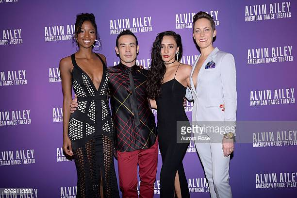 Ashley Mayeux Kanji Seguaria Danica Pavlos and Elisa Clarke attend Alvin Ailey American Dance Theater Opening Night Gala Benefit 'An Evening of Ailey...