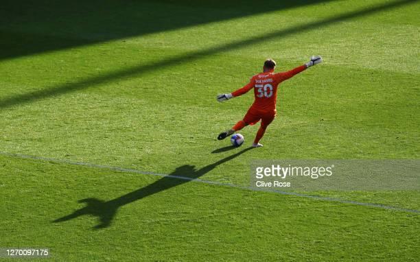 Ashley MaynardBrewer of Charlton Athletic clears the ball during the EFL Trophy match AFC Wimbledon and Charlton Athletic at The Kiyan Prince...