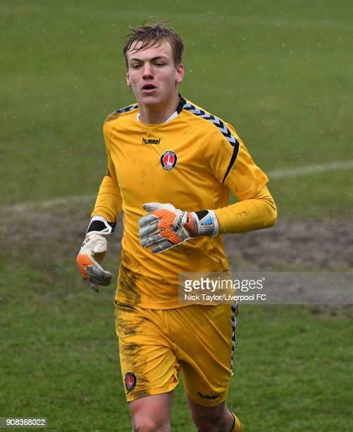Ashley MaynardBrewer of Charlton Athletic in action during the Liverpool U23 v Charlton Athletic U23 Premier League Cup game at The Swansway Chester...