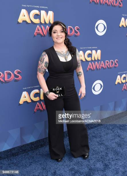 Ashley McBryde attends the 53rd Academy of Country Music Awards at MGM Grand Garden Arena on April 15 2018 in Las Vegas Nevada