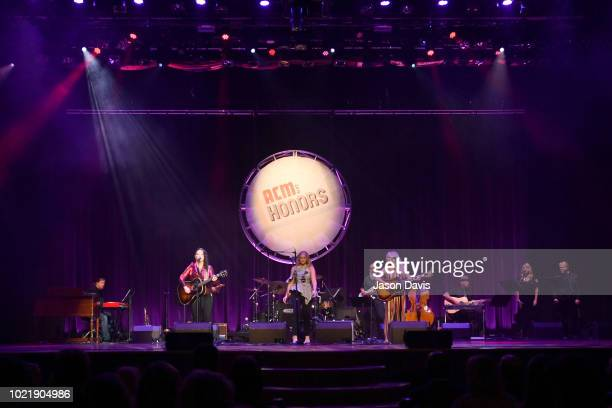 Ashley McBryde Lauren Alaina and Deana Carter perform onstage during the 12th Annual ACM Honors at Ryman Auditorium on August 22 2018 in Nashville...