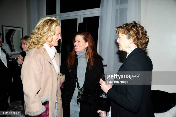 Ashley McDermott Debra Messing and Annette Bening attend The Cinema Society With Synchrony Bank And FIJI Water Host The After Party For Marvel...