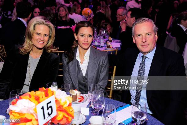 Ashley McDermott Ulla Parker and Alex Roepers attends The Boys' Club of New York Ninth Annual Winter Luncheon on February 26 2018 in New York City