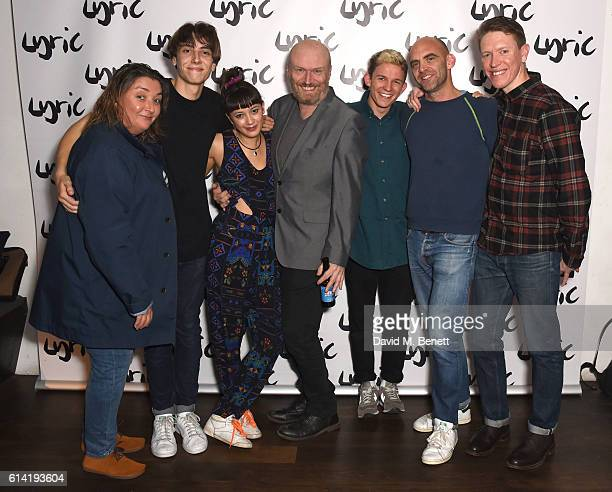 Ashley McGuire Alex Arnold Sophie Wu Mark Ravenhill David Moorst Sean Holmes and Sam Spruell attend the press night performance of 'Shopping And...