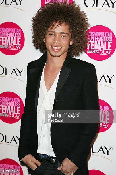 Ashley McKenzie from X Factor during Cosmopolitan Fun Fearless Female Awards with Olay Red Carpet at Bloomsbury Ballroom in London Great Britain