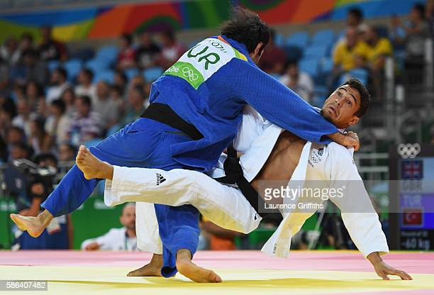 Ashley McKenzie of Great Britain competes against Bekir Ozlu of Turkey in the Men's 60 kg Judo on Day 1 of the Rio 2016 Olympic Games at Carioca...