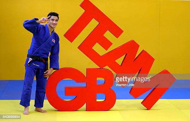 Ashley McKenzie of Great Britain poses for a picture ahead of an announcement of judo athletes named in Team GB for the Rio 2016 Olympic Games at...