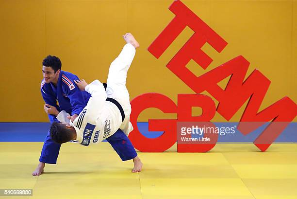 Ashley McKenzie of Great Britain trains ahead of an announcement of judo athletes named in Team GB for the Rio 2016 Olympic Games at British Judo...