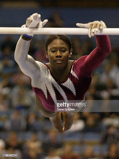 Ashley Miles of Alabama in action at the 2004 NCAA Championship Individual Finals at Pauley Pavilion in Westwood California April 17