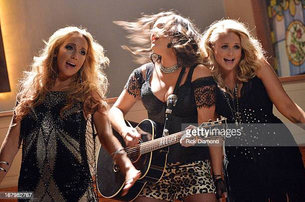 Ashley Monroe Anagleena Presley and Miranda Lambert on the set just in time for the release of their sophomore album Annie Up Pistol Annies unveil...