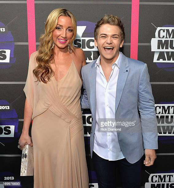 Ashley Monroe and Hunter Hayes attend the 2013 CMT Music awards at the Bridgestone Arena on June 5 2013 in Nashville Tennessee
