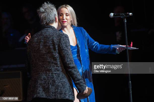 Ashley Monroe and Mary Gautheir onstage at the UK Americana Awards 2019 held at Hackney Empire on January 31 2019 in London England