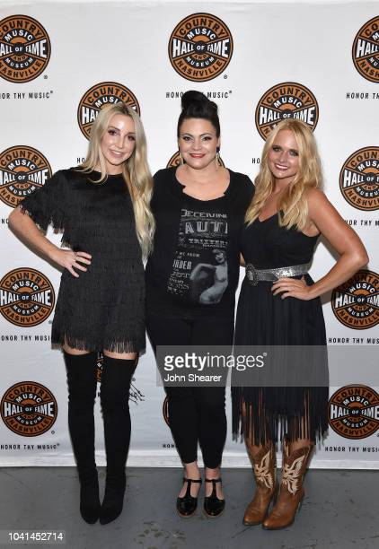 Ashley Monroe Angaleena Presley and artist in residence Miranda Lambert take photos backstage for a second soldout show at the Country Music Hall of...