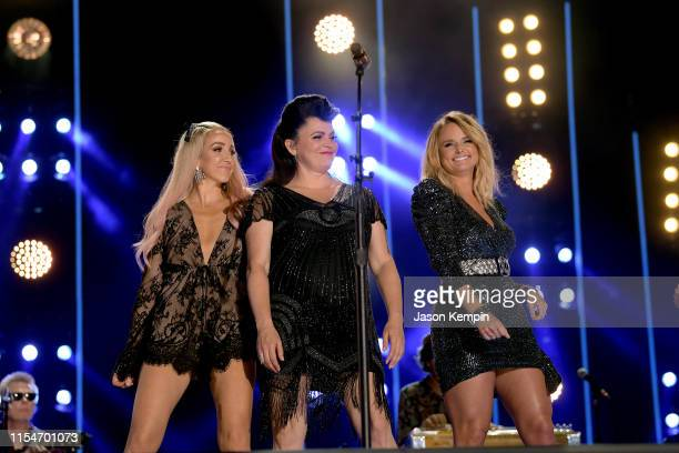 Ashley Monroe Angaleena Presley and Miranda Lambert of Pistol Annies perform onstage during day 3 of the 2019 CMA Music Festival on June 8 2019 in...
