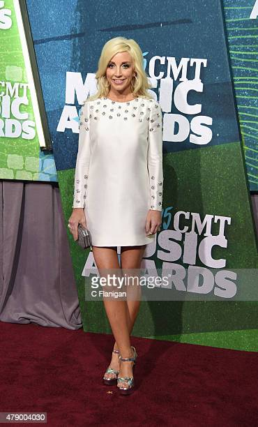 Ashley Monroe attends the 2015 CMT Music awards at the Bridgestone Arena on June 10 2015 in Nashville Tennessee