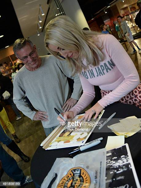 Ashley Monroe meets fans and signs autographs as part of the Country Music Hall Of Fame Museum Presents Songwriter Session Ashley Monroe at Country...