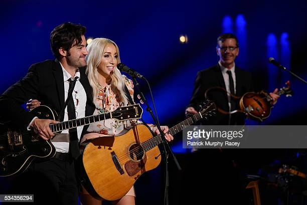 Ashley Monroe performs during a live streamed concert for 'Soundtrack Of America Made In Tennessee' at Tennessee Theatre on May 24 2016 in Knoxville...