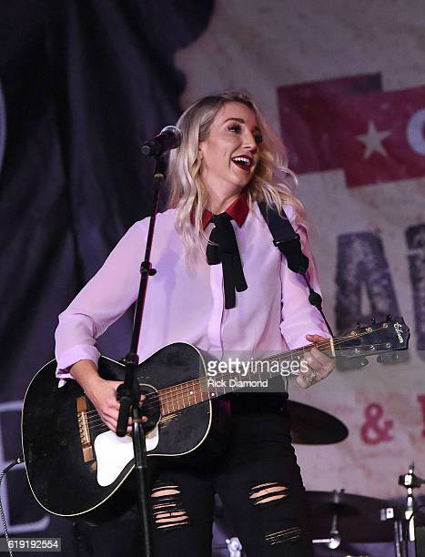 Ashley Monroe performs during the 2016 Celebrity Barn Dance Benefitting Music Health Alliance at Jaeckle Centre on October 29 2016 in Thompson's...