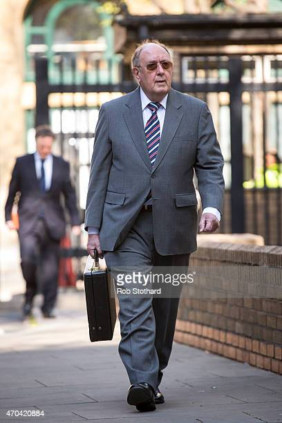 Ashley Mote arrives at Southwark Crown Court on April 20 2015 in London England The former UK Independence Party Member of the European Parliament...