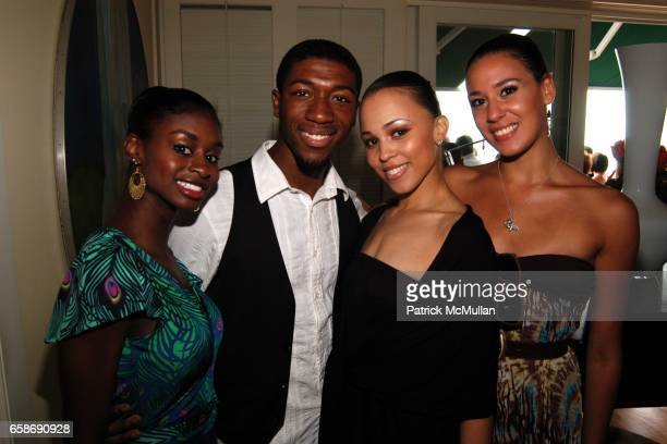 Ashley Murphy DaVon Doane Danielle Thomas and Sarah Bokowski attend Reginald F Lewis Foundation Gala Luncheon at Private Residence on June 13 2009 in...