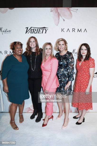 Ashley Nicole Black Alison Camillo Samantha Bee Allana Harkin Jackie Knobbe during the 2018 Variety's Power Of Women New York at Cipriani Wall Street...