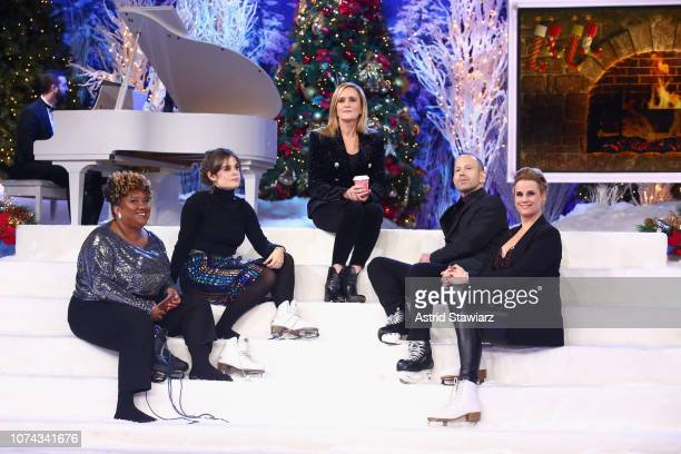 Ashley Nicole Black Amy Hoggart Samantha Bee Mike Rubens and Allana Harkin onstage during Full Frontal With Samantha Bee Presents Christmas On ICE at...