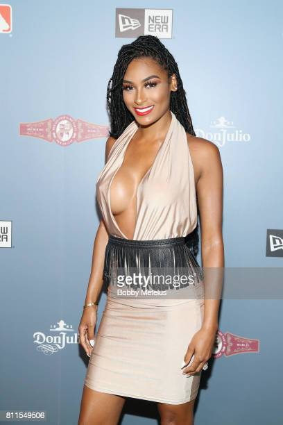 Ashley Nicole Roberts attends the New Era Cap MLB AllStar Party 2017 at Beachcraft at 1 Hotel South Beach on July 9 2017 in Miami Beach Florida