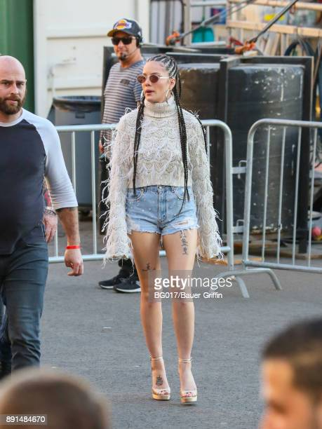 Ashley Nicolette aka 'Halsey' is seen at 'Jimmy Kimmel Live' on December 12 2017 in Los Angeles California