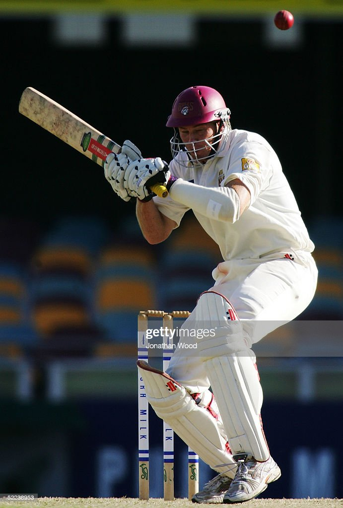 Ashley Noffke of the Bulls avoids a bouncer during day 2 of the Pura Cup match between the Queensland Bulls and South Australia Redbacks at the Gabba, February 25, 2005 in Brisbane, Australia