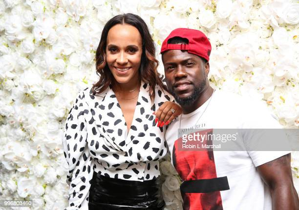 Ashley North and Comedian Kevin Hart attend Ashley North's Launch of 'AN STYLE' Candles at IceLink Boutique and Rooftop Lounge on July 11 2018 in...