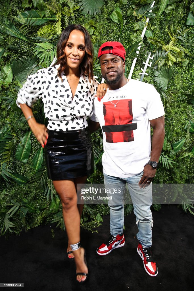 Ashley North and comedian Kevin Hart attend Ashley North's Launch of 'AN STYLE' Candles at IceLink Boutique and Rooftop Lounge on July 11, 2018 in West Hollywood, California.