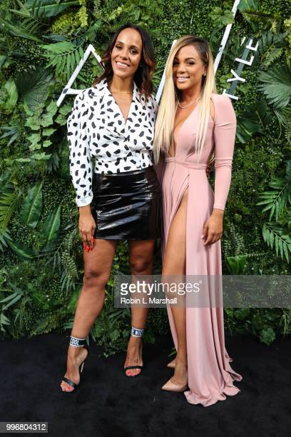 Ashley North and Doralie Medina attend Ashley North's Launch of 'AN STYLE' Candles at IceLink Boutique and Rooftop Lounge on July 11 2018 in West...