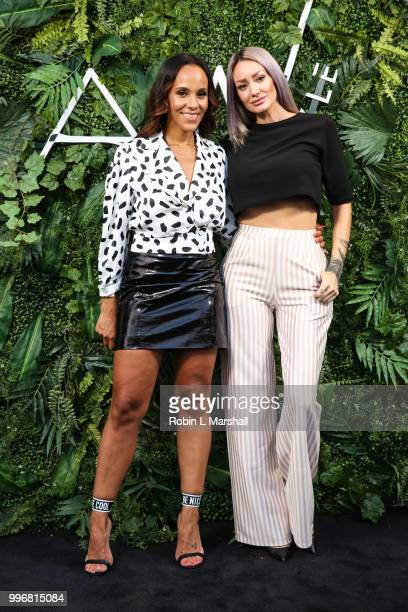 Ashley North and guest attend Ashley North's Launch of 'AN STYLE' Candles at IceLink Boutique and Rooftop Lounge on July 11 2018 in West Hollywood...