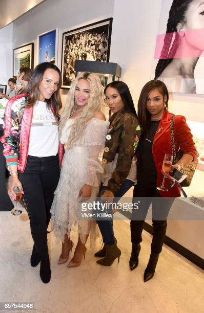 "Ashley North, Doralie Medina, Amber Lee and Christina attend The Bad Medina Cosmetics Pop-Up Shop and celebration of ""BEAUTY X ART = WOMEN,"" a..."