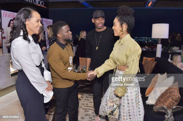 Ashley North Kevin Hart Jason Bolden and Yara Shahidi attend The Hollywood Reporter and Jimmy Choo Power Stylists Dinner on March 20 2018 in Los...