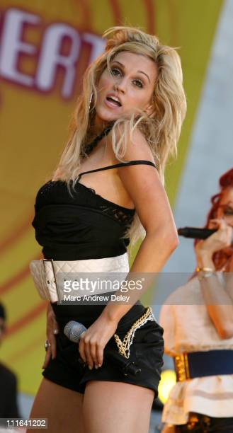 Ashley of the Pussycat Dolls during The Pussycat Dolls Perform on ABC's Good Morning America Summer Concert Series June 30 2006 at Bryant Park in New...