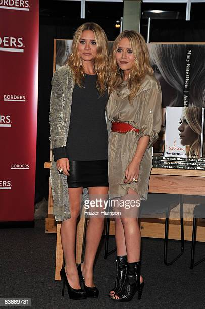 Ashley Olsen and Mary Kate Olsen attend a book signing session for Influence on Novenber 12 2008 at Borders books store in Westwood California