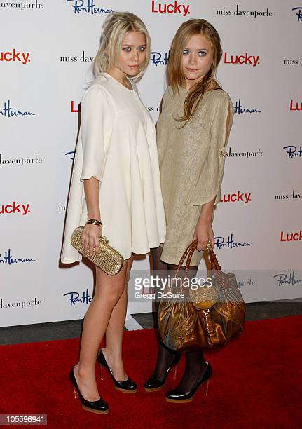Ashley Olsen and Mary Kate Olsen during Lucky Magazine Hosts Miss Davenporte Trunk Show at Ron Herman Arrivals at Ron Herman in Los Angeles...