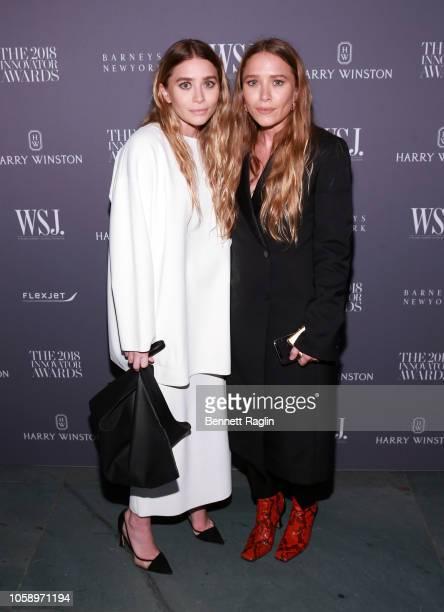 Ashley Olsen and MaryKate attend WSJ Magazine 2018 Innovator Awards Sponsored By Harry Winston FlexJet Barneys New York at MOMA on November 7 2018 in...