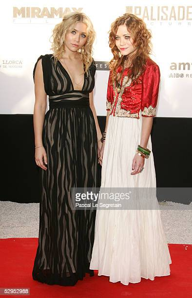 """Ashley Olsen and Mary-Kate Olsen arrive at """"Cinema Against AIDS 2005"""", the 12th annual event in aid of amfAR at Le Moulin de Mougins at the 58th..."""