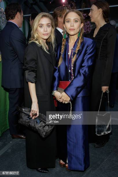 Ashley Olsen and MaryKate Olsen attend the 40th Anniversary of Studio In A School at The Seagram Building Plaza on May 3 2017 in New York City