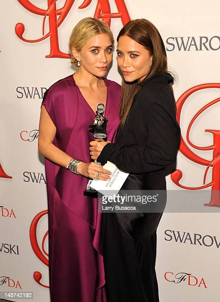 Ashley Olsen and MaryKate Olsen attend the2012 CFDA Fashion Awards at Alice Tully Hall on June 4 2012 in New York City